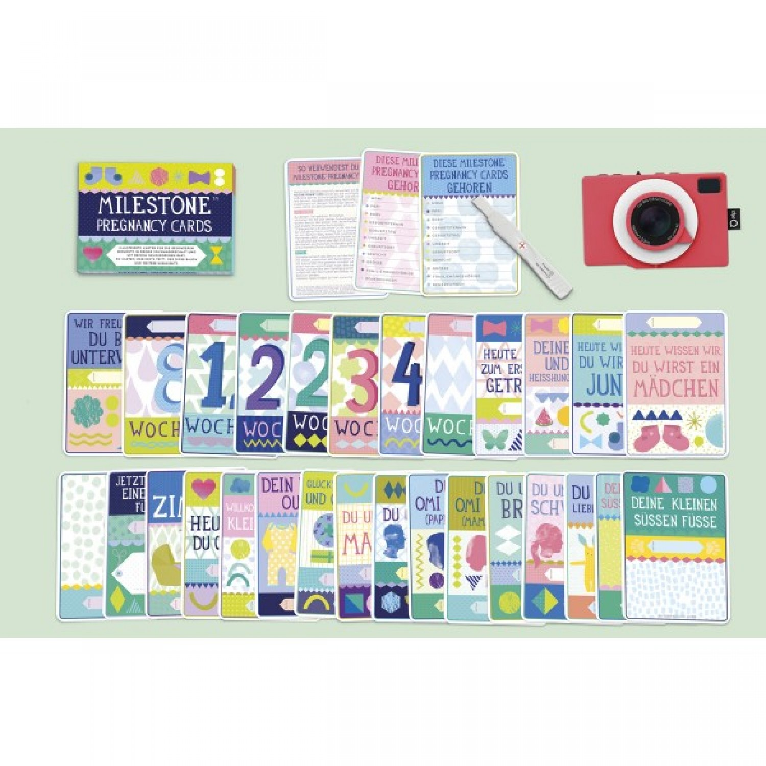 Milestone Pregnancy Cards Set – German