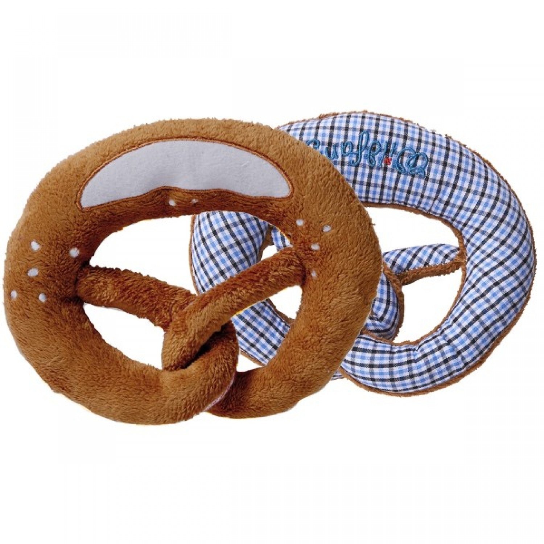 Rattling pretzel blue-white Grabbing toy by nyani