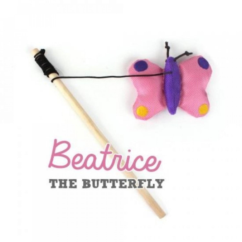 Schmetterling Beatrice - Öko Katzenangel | BecoPets
