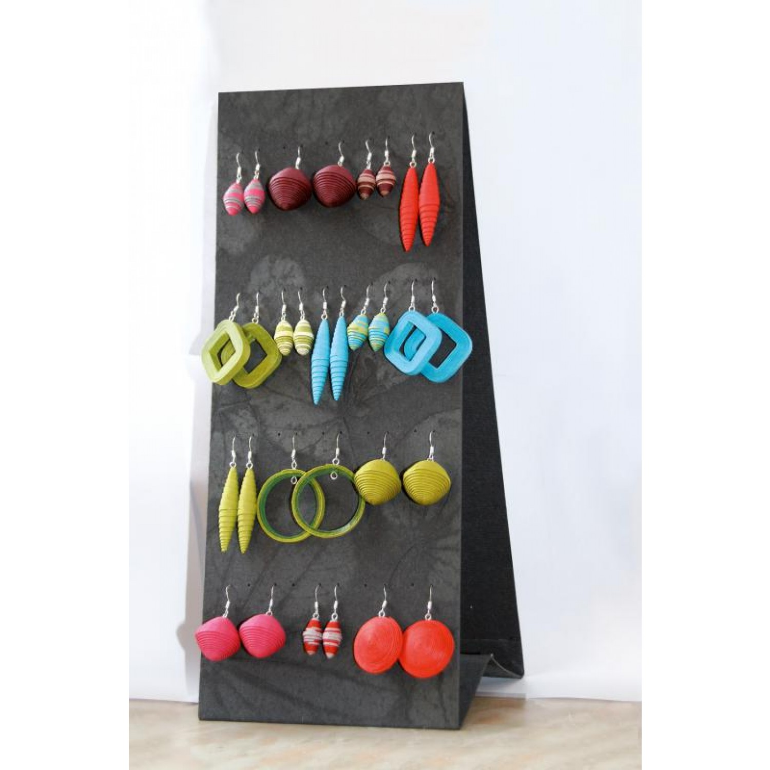Earring Display Earrings Holder of recycled cotton
