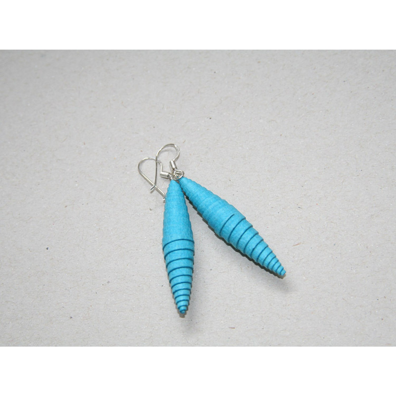 Earrings Sea Blue-Turquoise made of Eco Paper