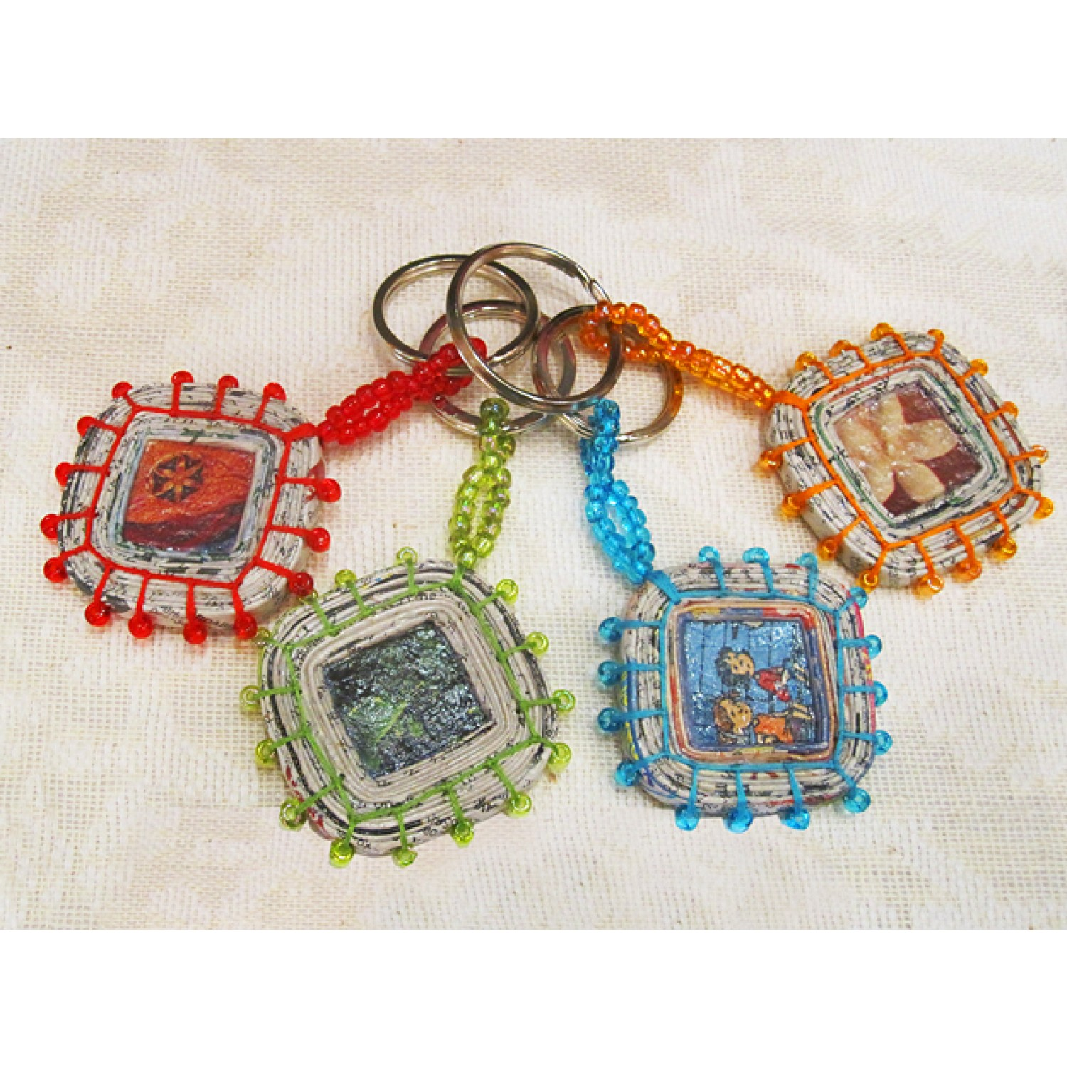 Keychain made of Recycling Paper | Sundara Paper