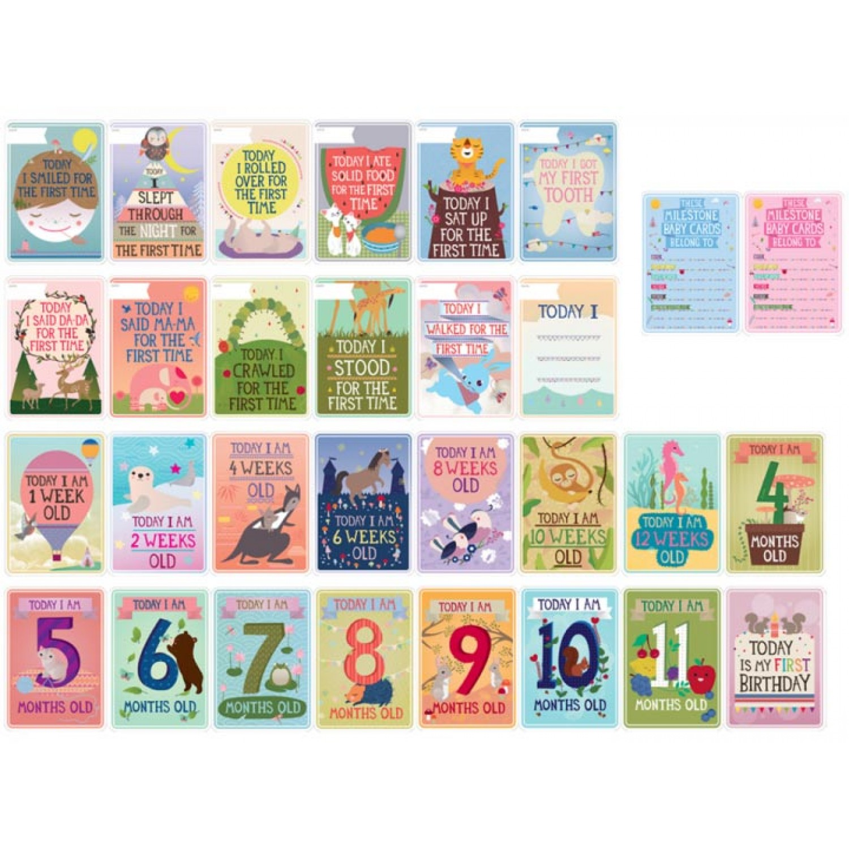 Milestone Baby Cards – Englisch