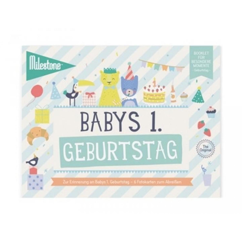 Baby S First Birthday Booklet In German Milestone Greenpicks