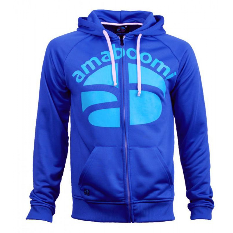 Men Zipped Hoodie NOATAK 100% Recycled - Blue