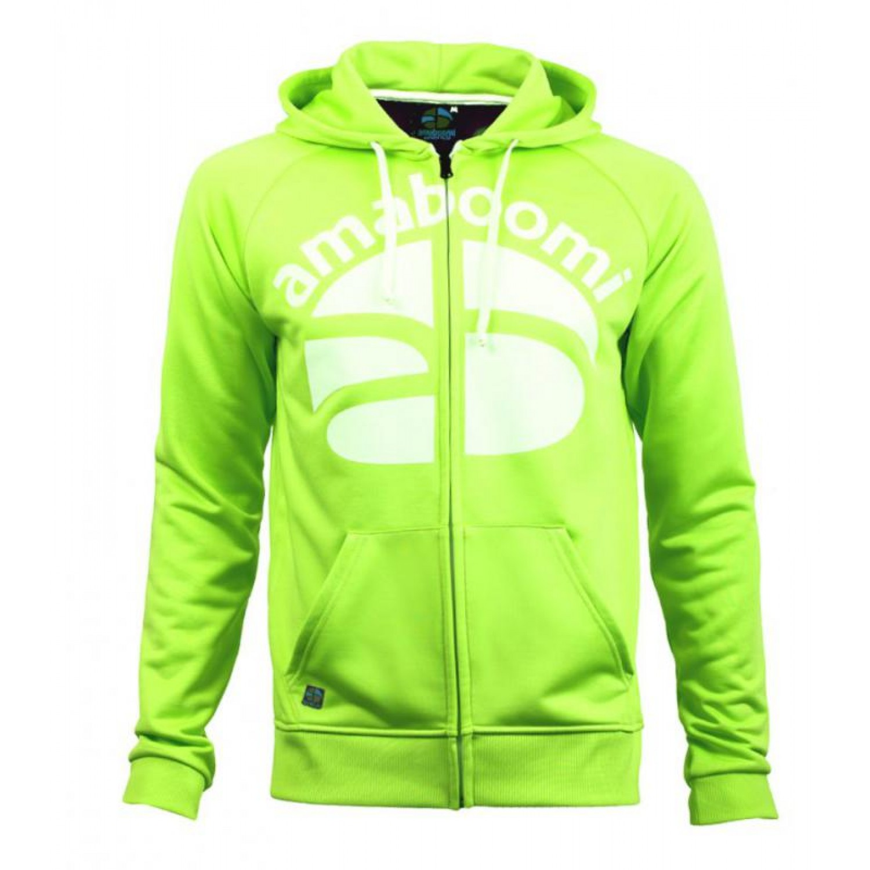 Men Zipped Hoodie NOATAK 100% Recycled - Green