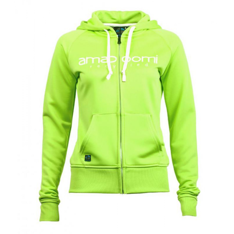 Recycled Women Zipped Hoodie MALASPINA Green