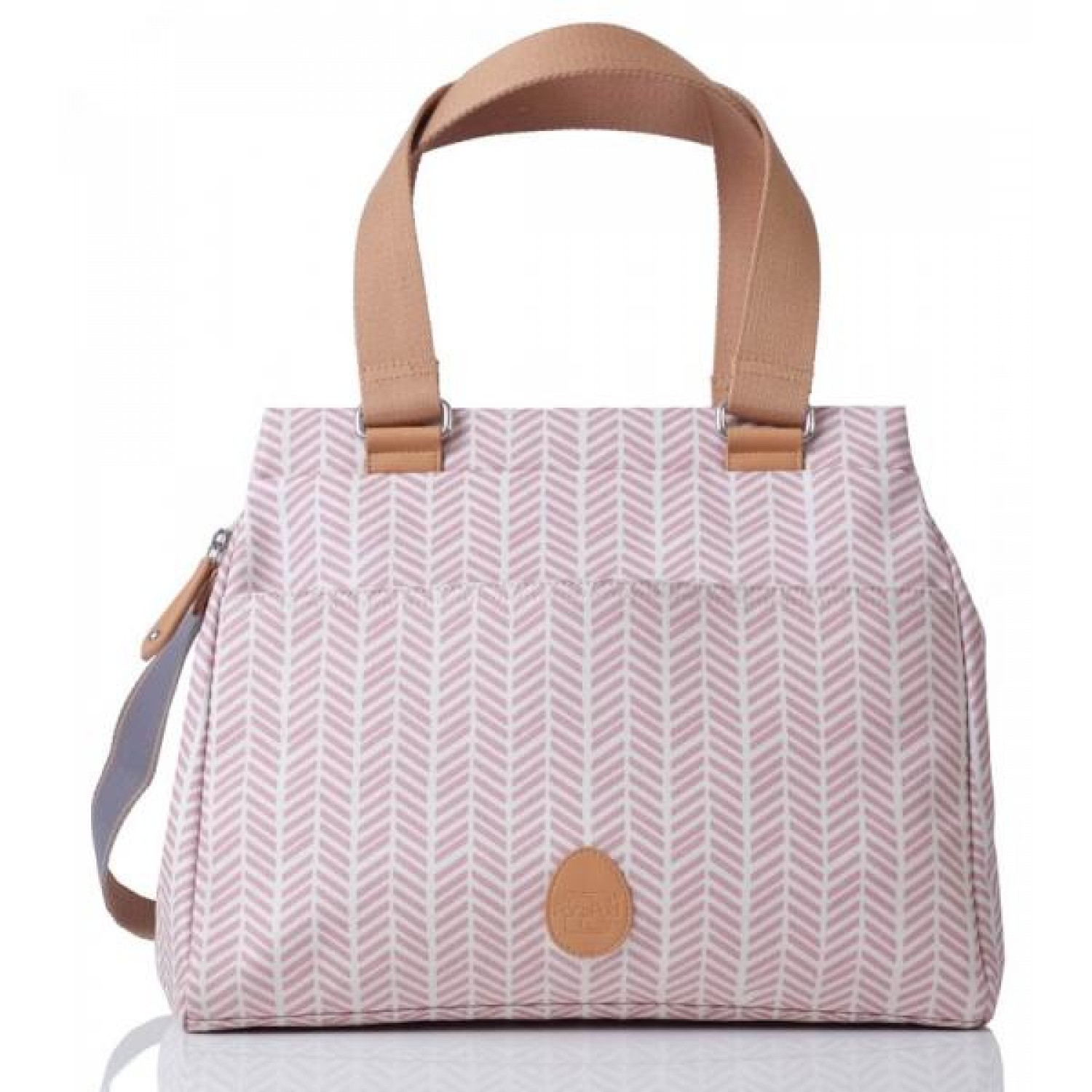 Öko Wickeltasche Richmond Dusty Pink Herringbone | PacaPod