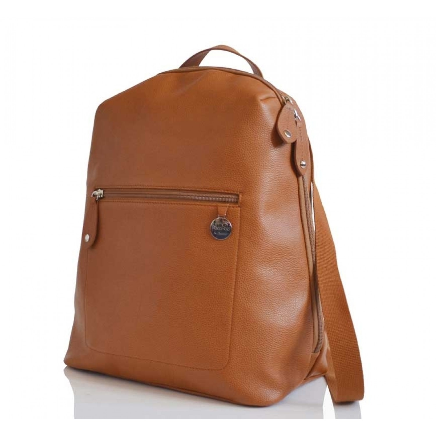 PacaPod Hartland Tan Leather Backpack & Eco Changing Bag