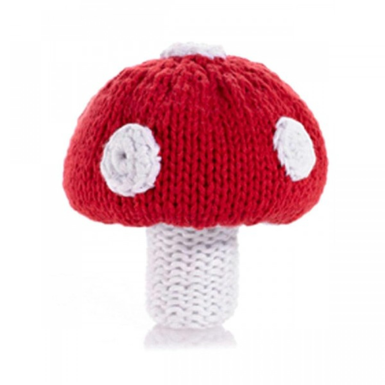 Pebble Vegetable Rattle – Toadstool
