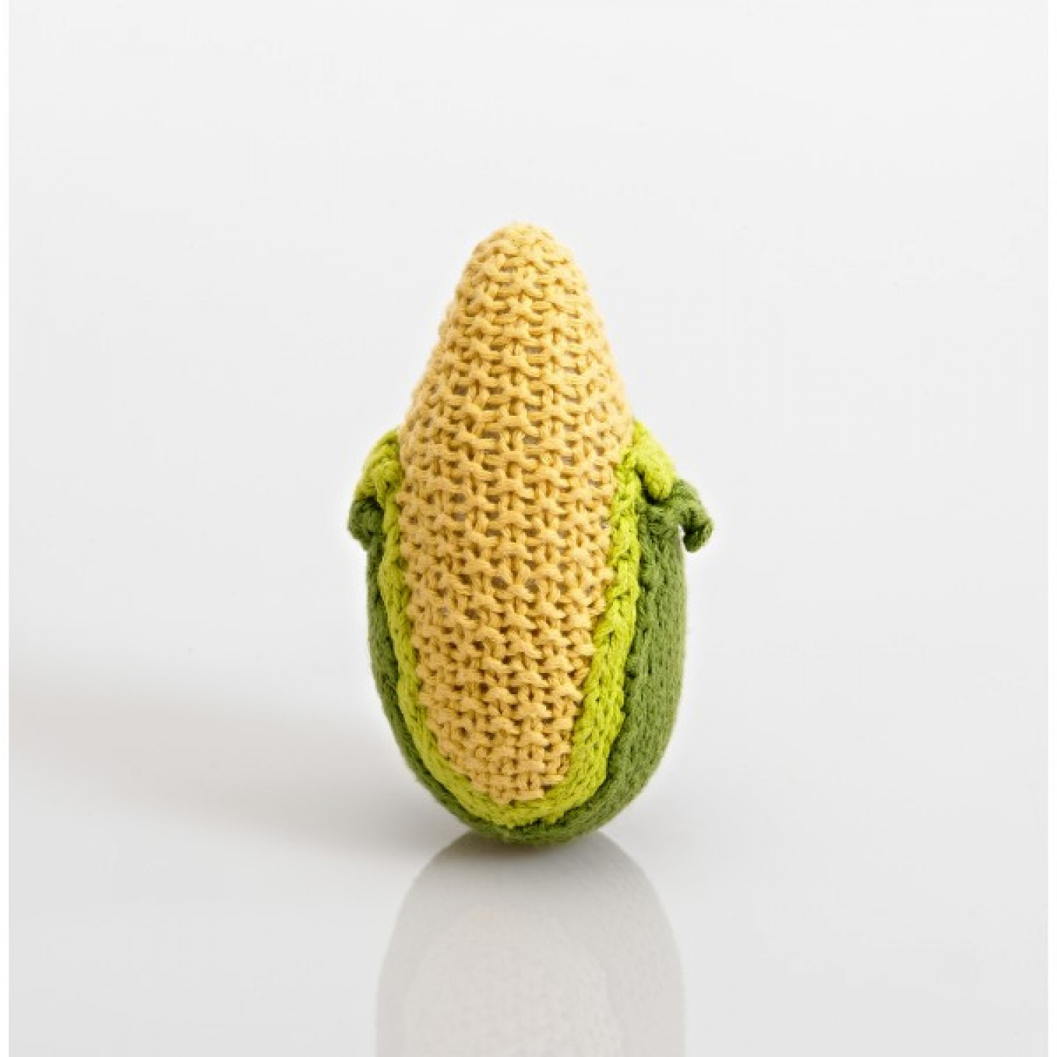 Pebble Vegetable Rattle – Corn made of Cotton
