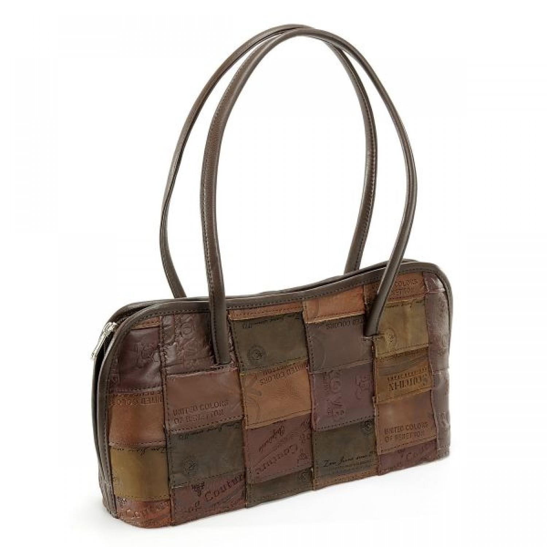 Jane upcycling handbag in denim labels