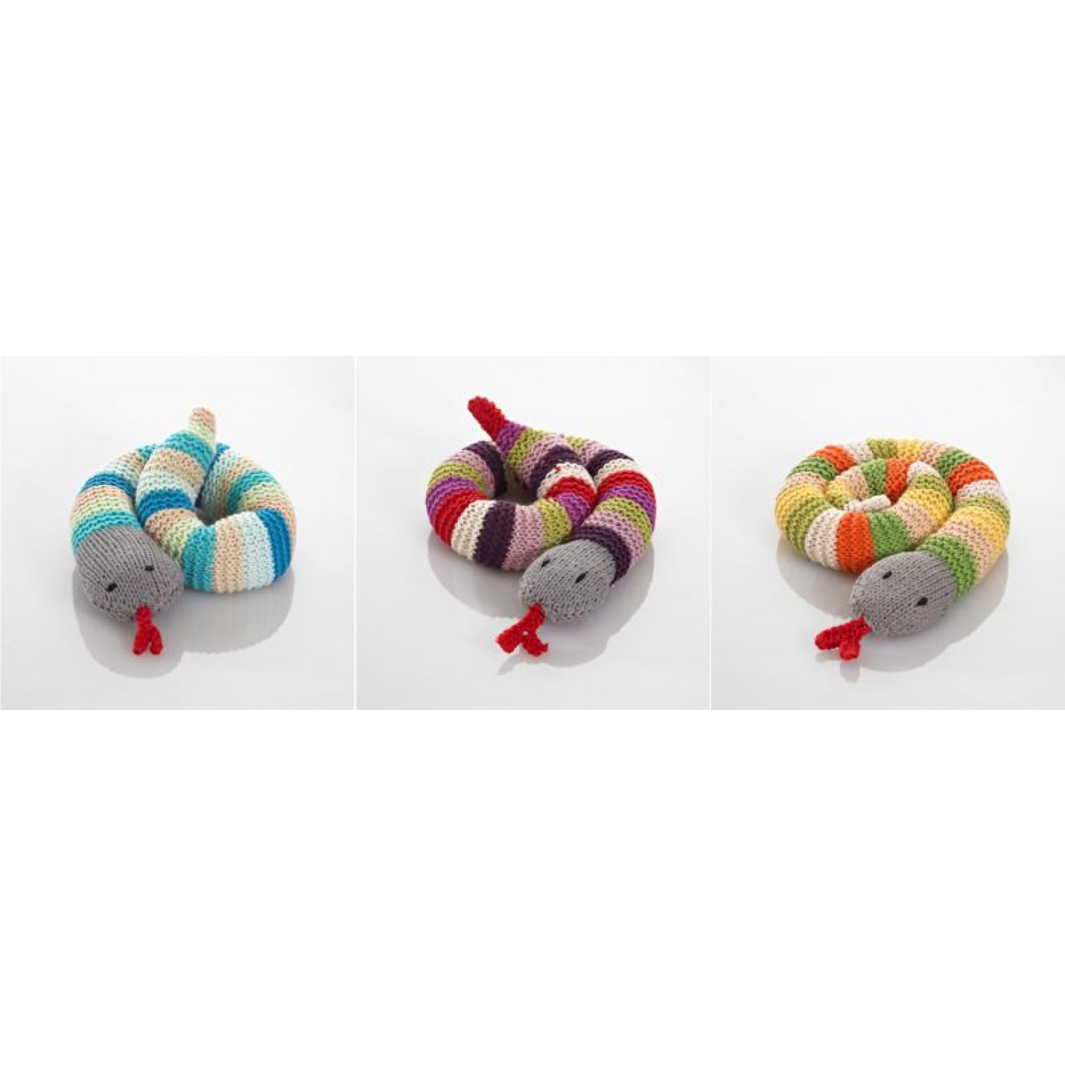 Handmade Rattle Snake of Cotton various colours | Pebble
