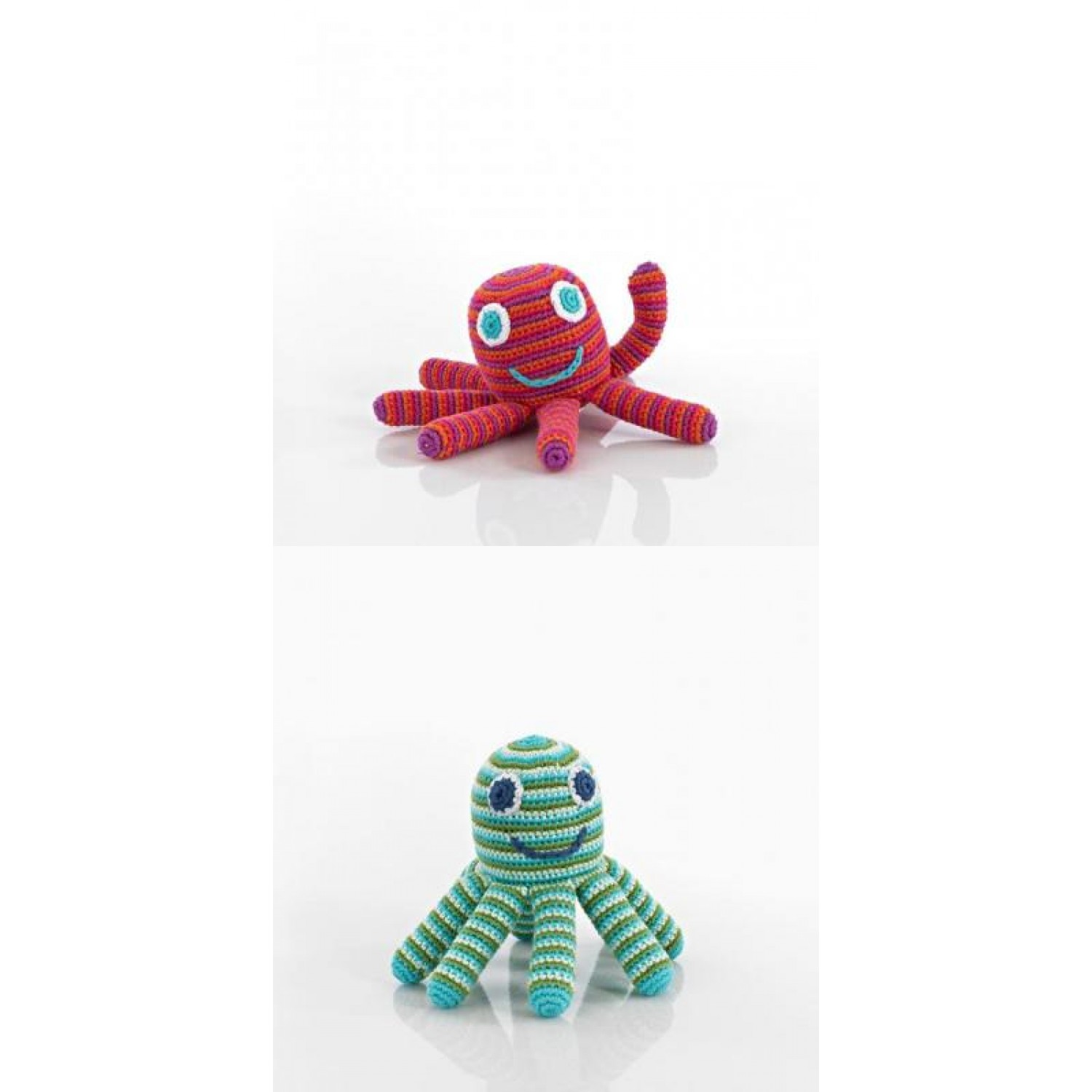 Handmade Baby Rattle Octopus of Cotton | Pebble