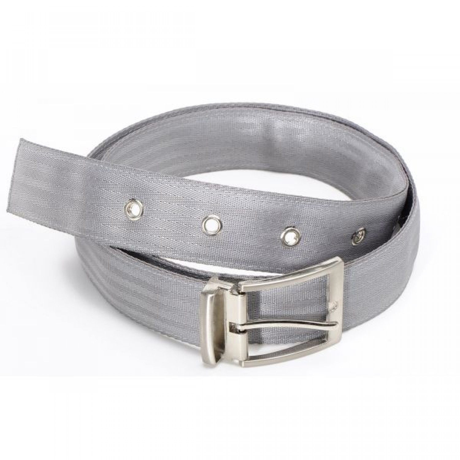 Light Grey Upcycling Belt in recycled seat belt