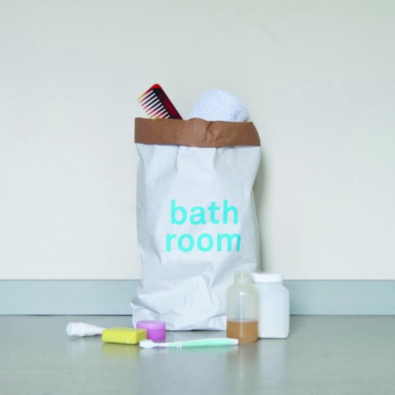 Bathroom paper bag by kolor