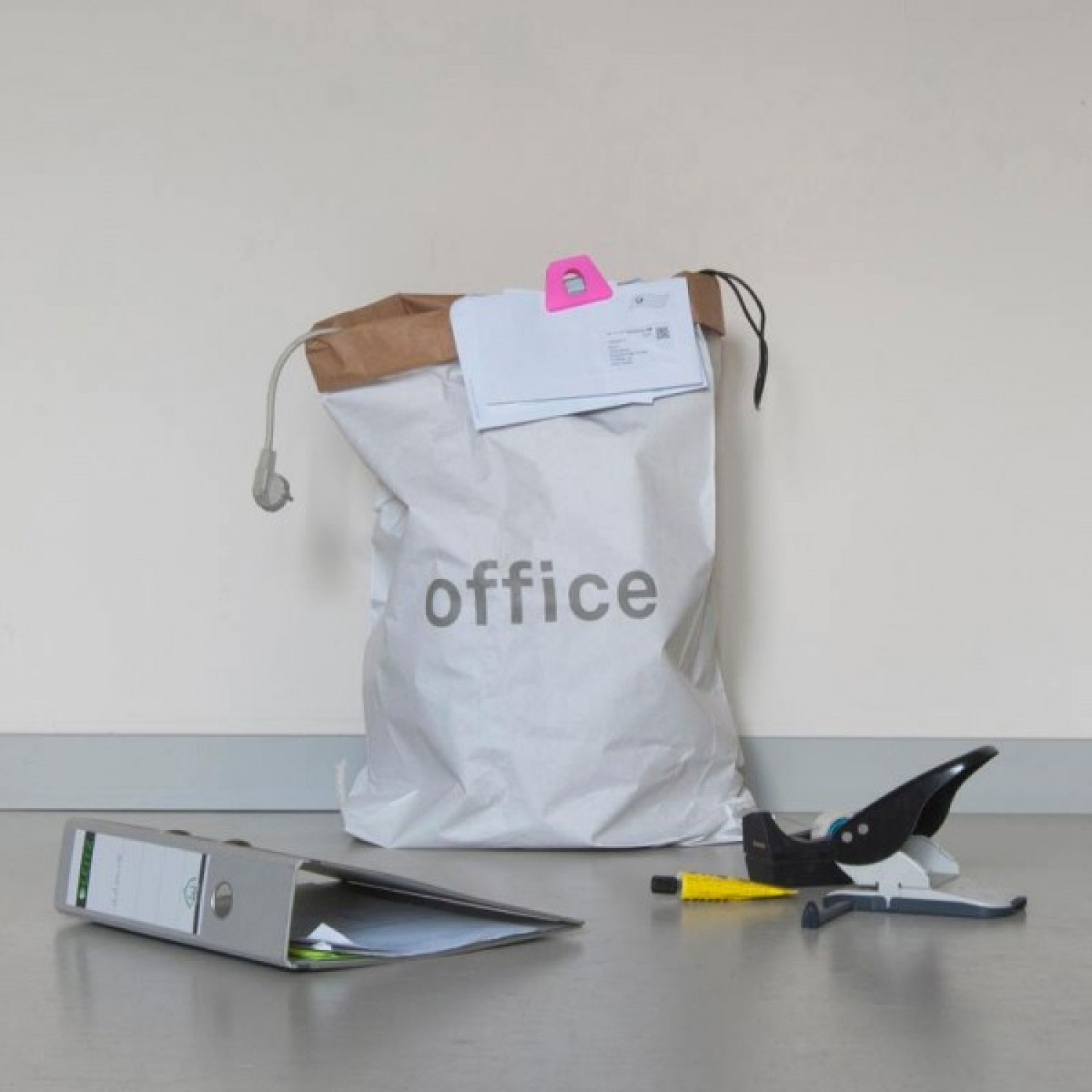 Storage Bag for Office made of recycled paper | kolor