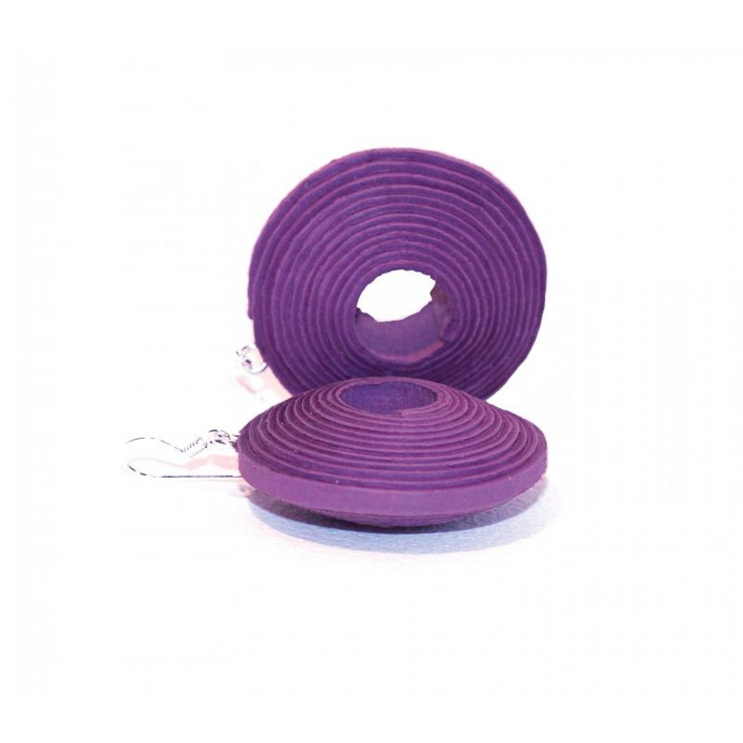 Violet Paper-Earrings II of recycled fibres | Sundara Paper Art