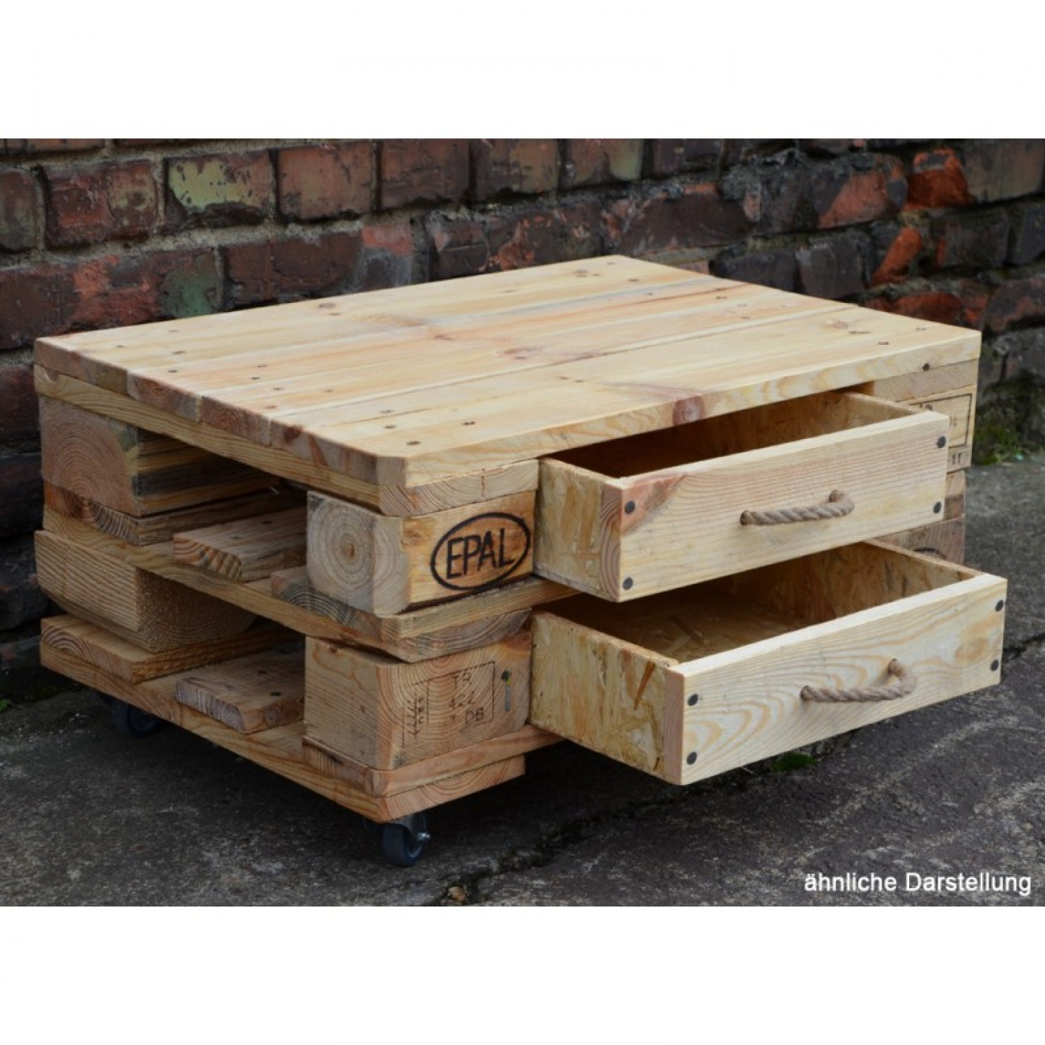 Upcycling Chest of Drawers made of Euro Paletts