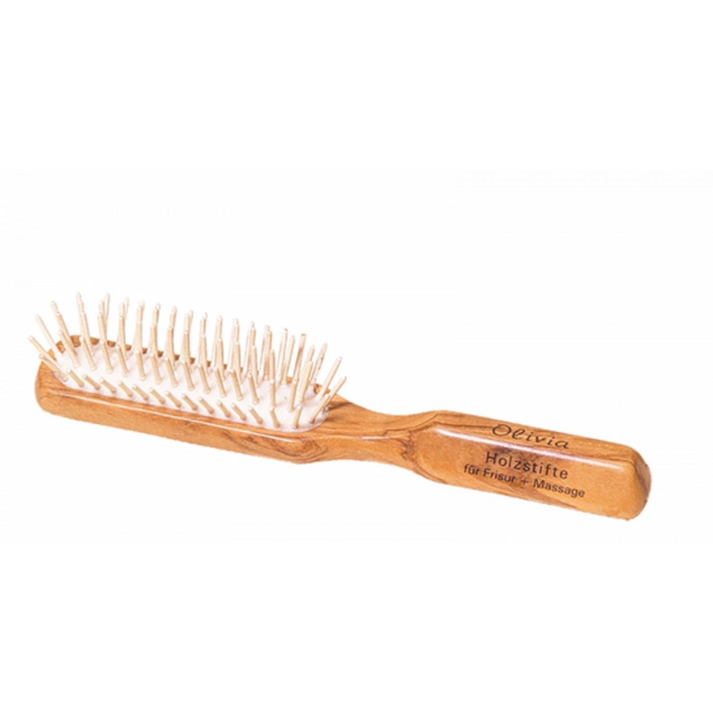 Längliche Holz Haarbürste aus Olivenholz | Redecker