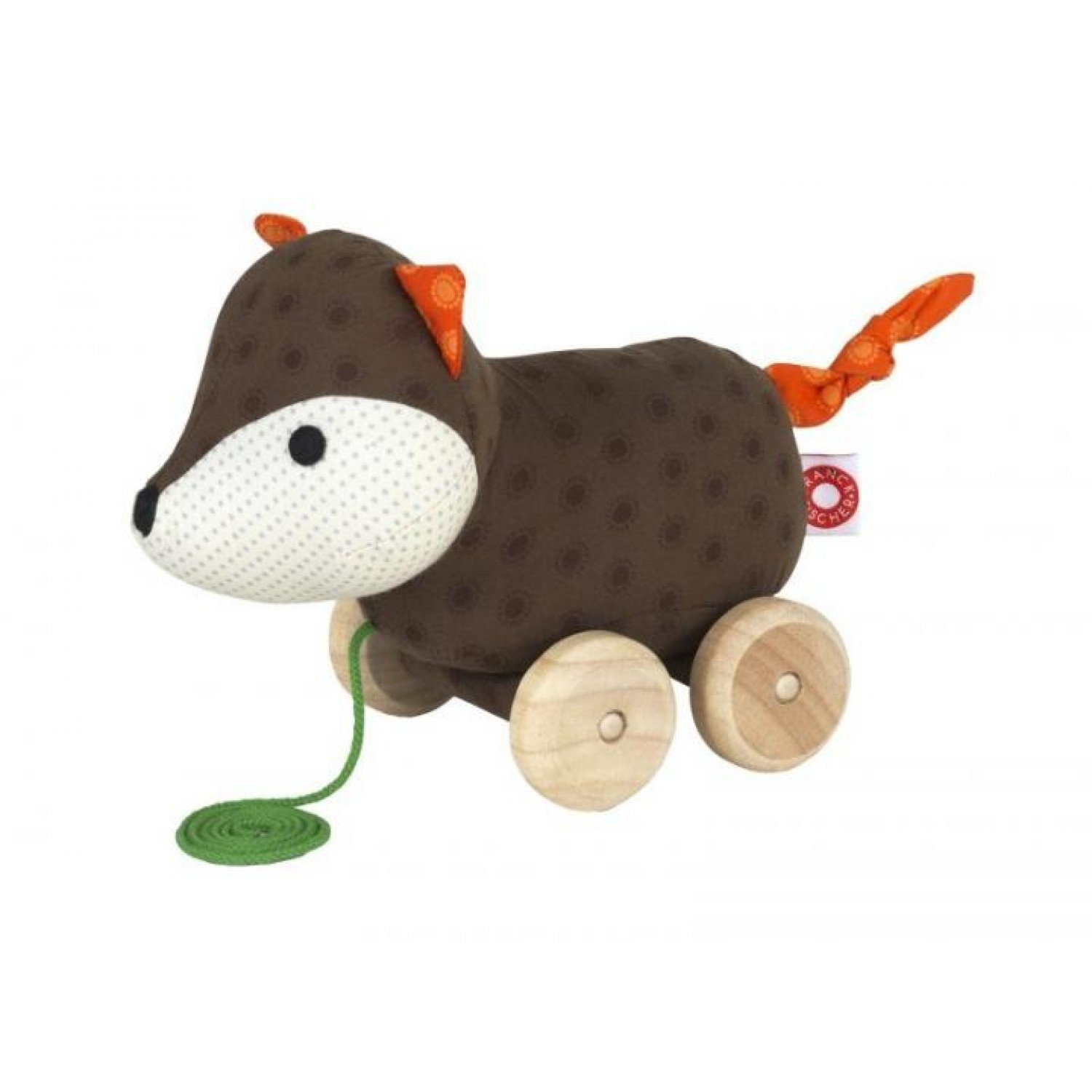 Pull Along Toy Fox Ejner of Organic Cotton | Franck & Fischer