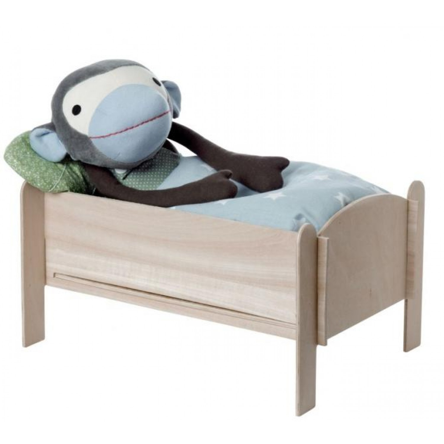 Wooden Doll Bed for Monkey & Soft Toy | Franck & Fischer