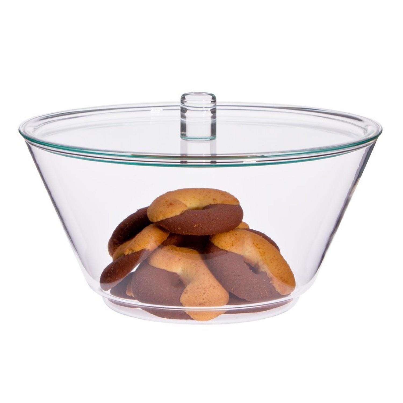 Glass Bowl GLOBE 1.5 L with Lid | Trendglas Jena