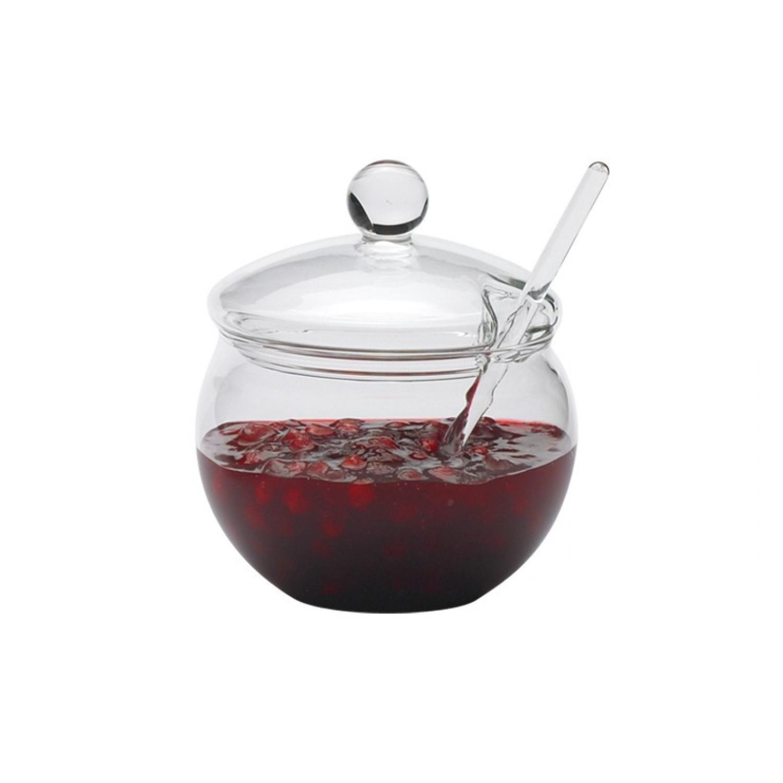 Jam Jar with Lid & Glass Stirrer | Trendglas Jena