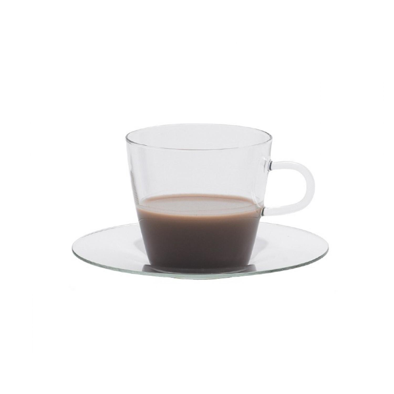 COSTA I Kaffeeglas mit Glasunterteller