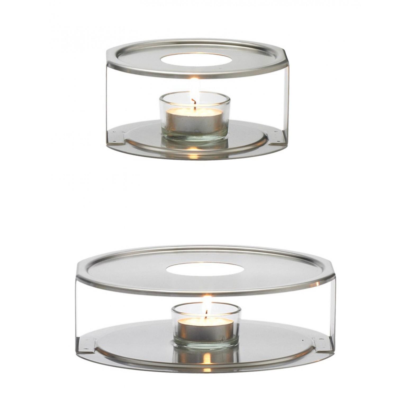 Edelstahlstövchen Ø 12cm oder Ø 17cm | Trendglas Jena