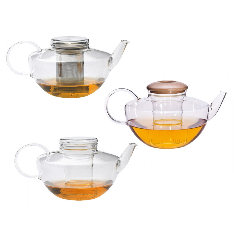 Teekanne OPUS mit Glassieb oder Edelstahlfilter