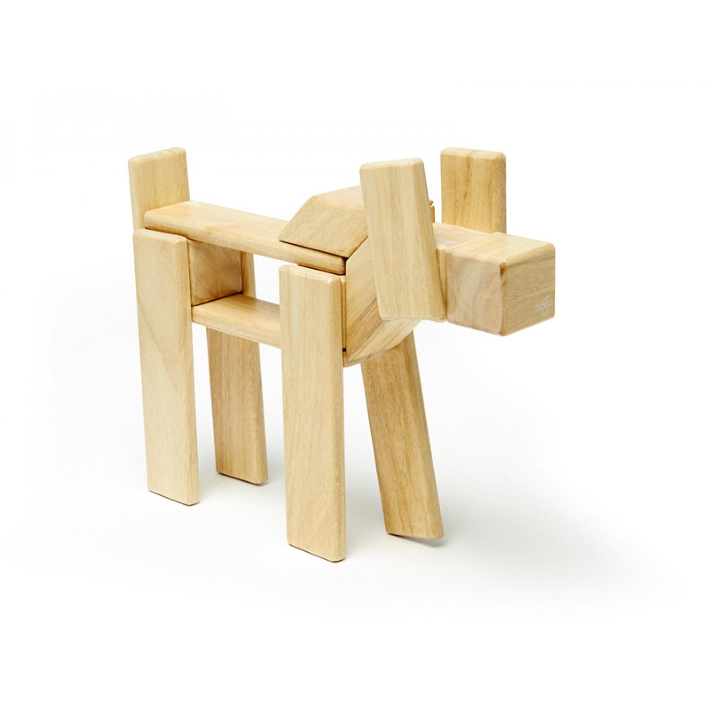 Naturfarbene magnetische Holzbausteine 24-teilig
