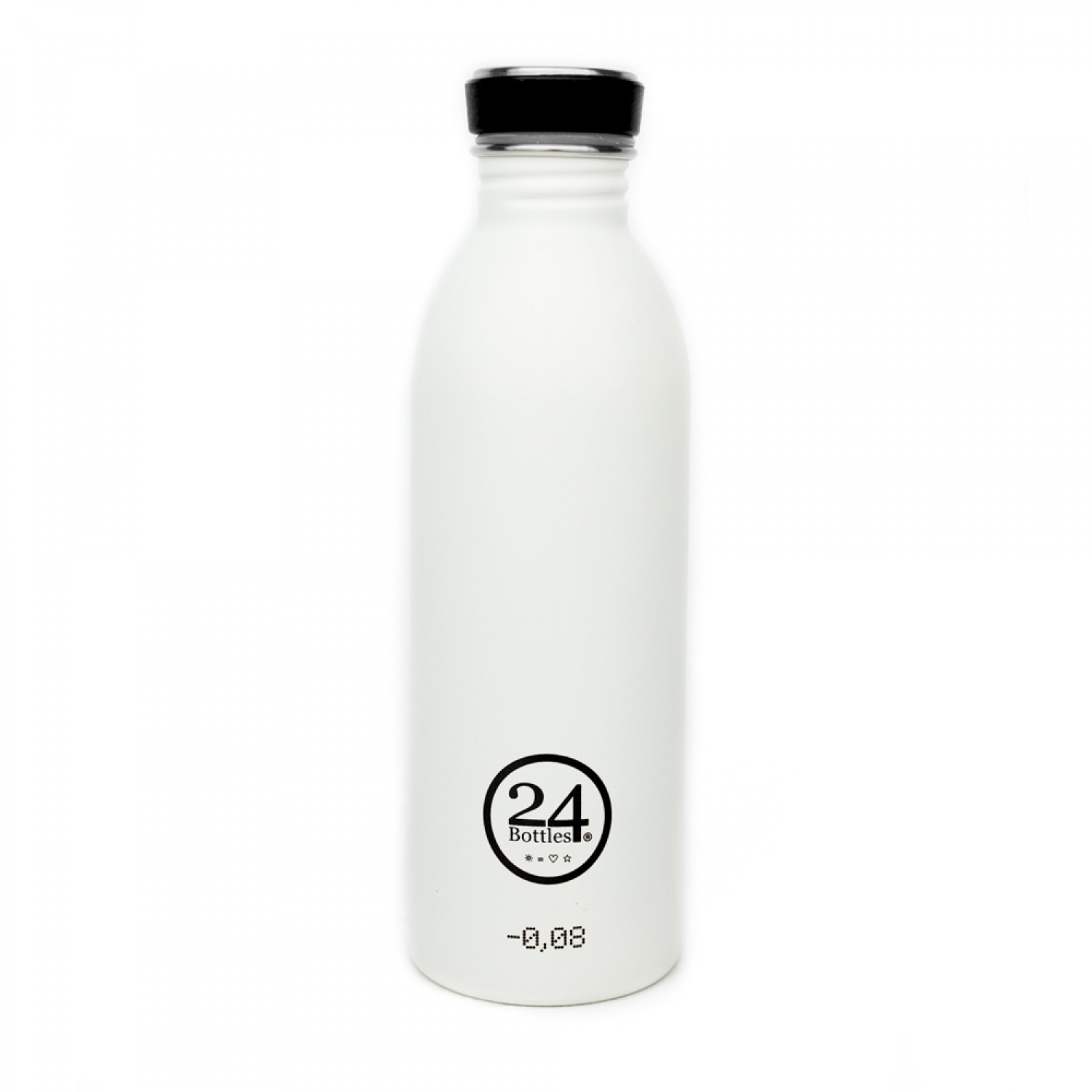 Stainless Steel Drinking Bottle 0.5L ice white | 24Bottles