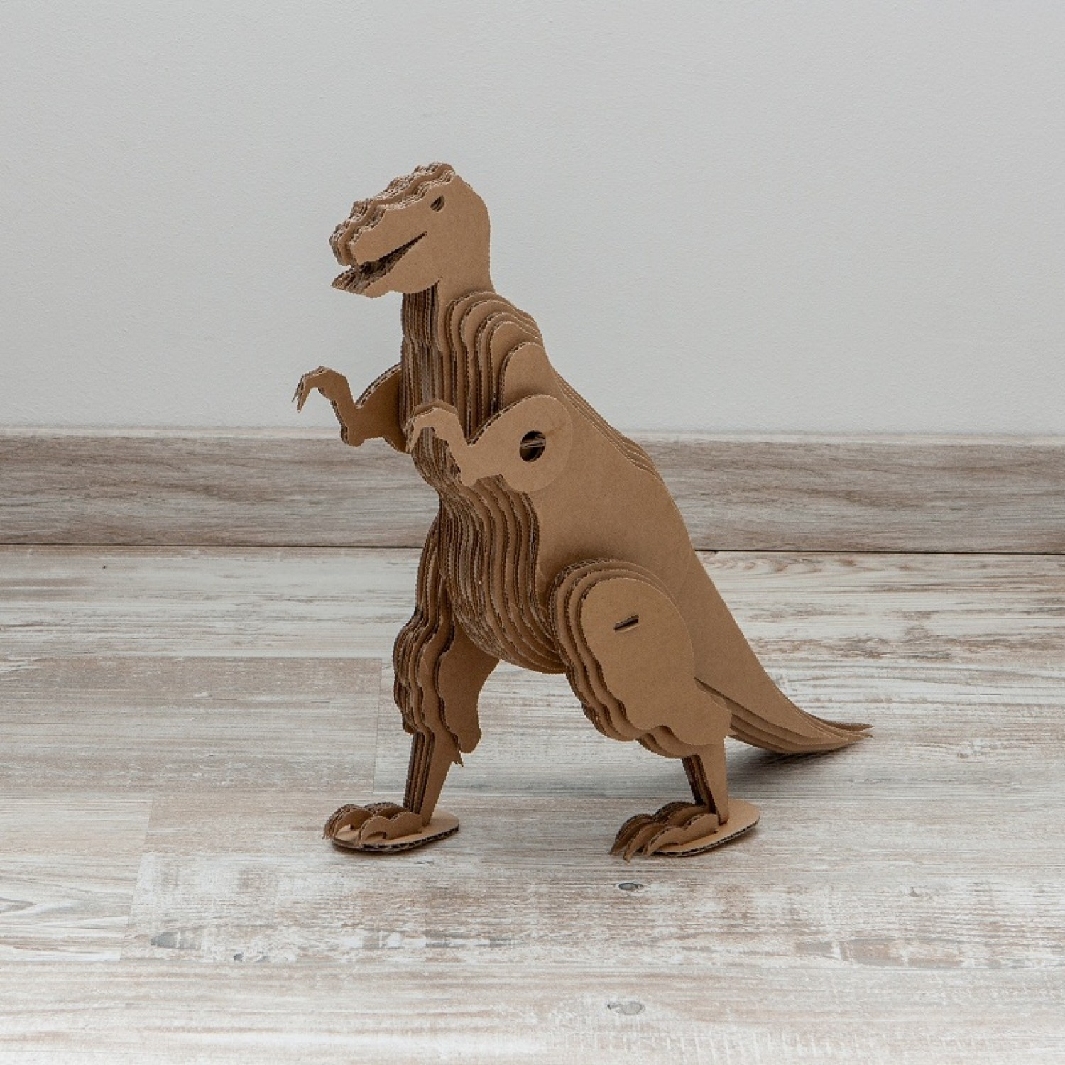 Dinosaur for crafting made of recyclable cardboard