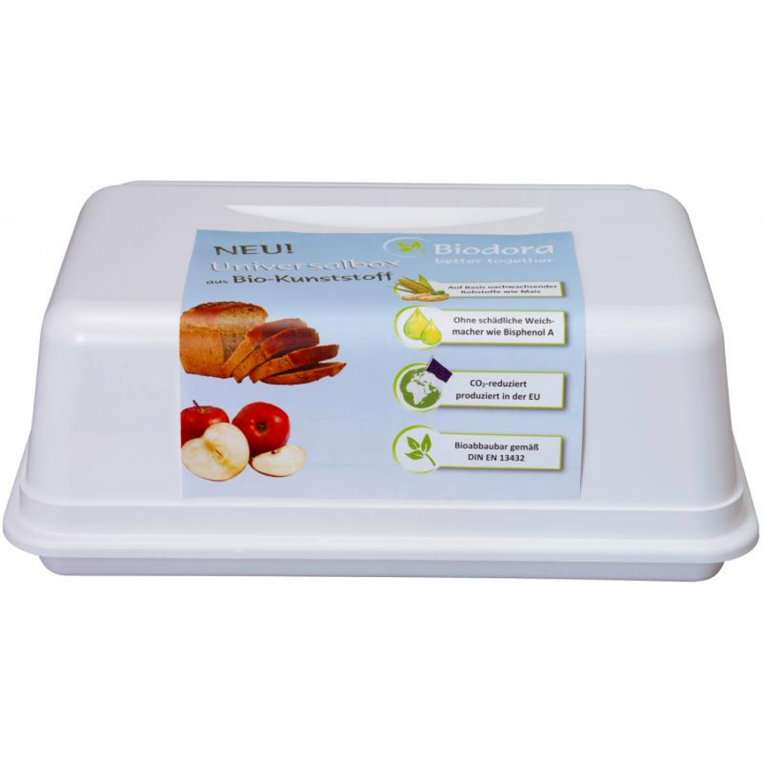 Food storage box of bioplastics from Biodora