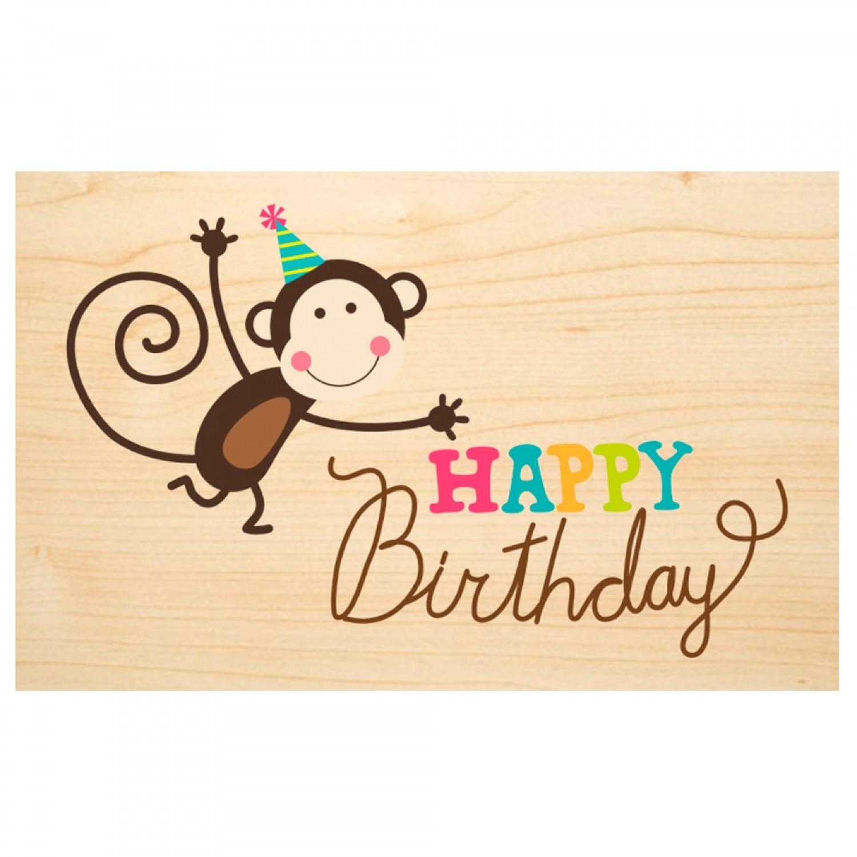 Happy Birthday Karte.Happy Birthday Wooden Postcard Say It With Nature Pefc Beechwood
