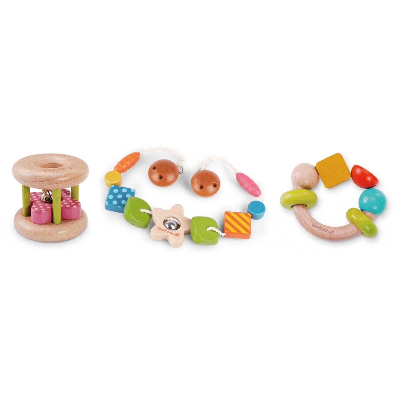 EverEarth® Motor Skills Infant Toy Bundle 2 - FSC® Wood