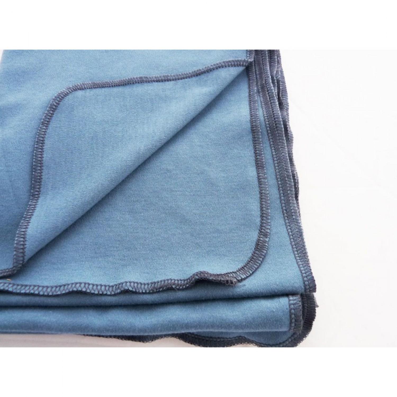 Blaue Babydecke | Pucktuch aus Bio-Baumwolle | Ulalue