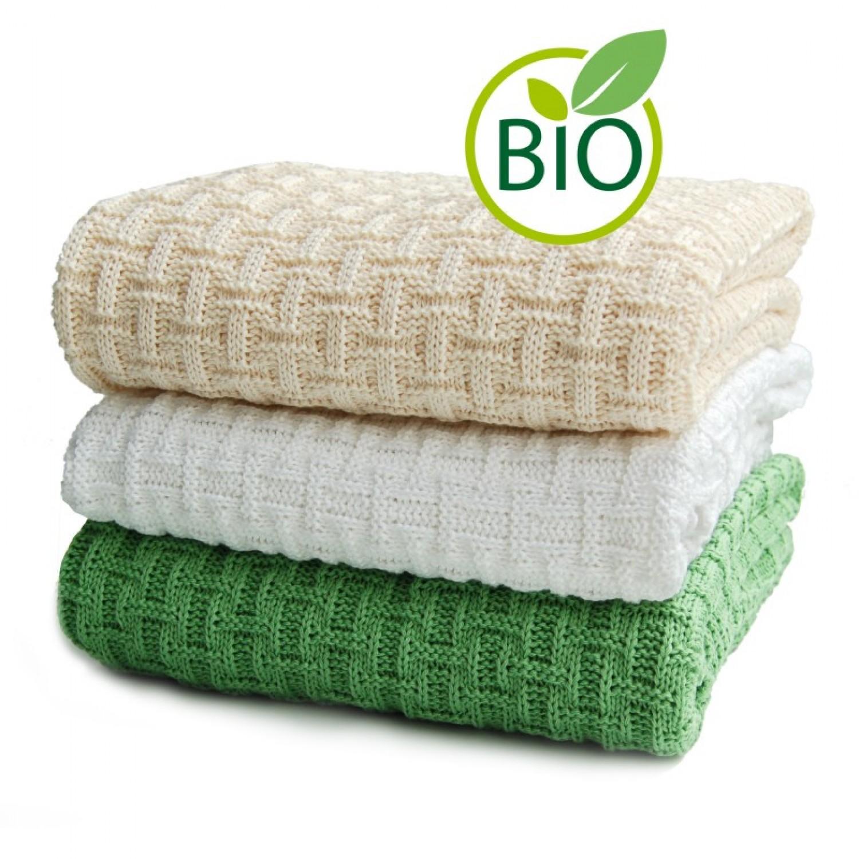 Babydecke Karostrick – Bio-Baumwolle   Sonnenstrick