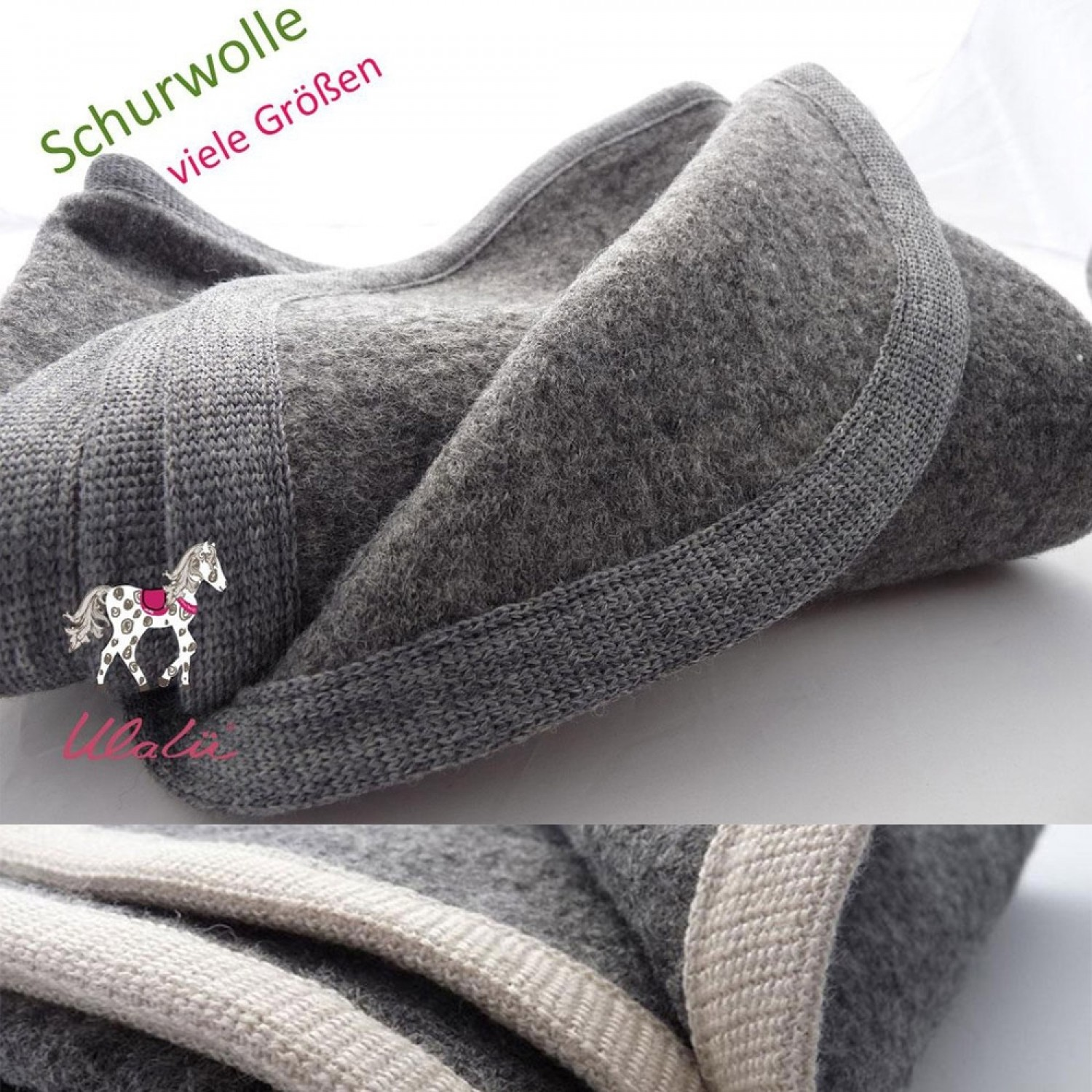 Baby Wool Blanket of certified pure new wool | Ulalue