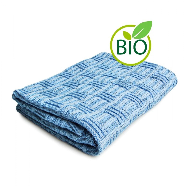 Babydecke mit Karomuster aus Bio-Baumwolle | Sonnenstrick