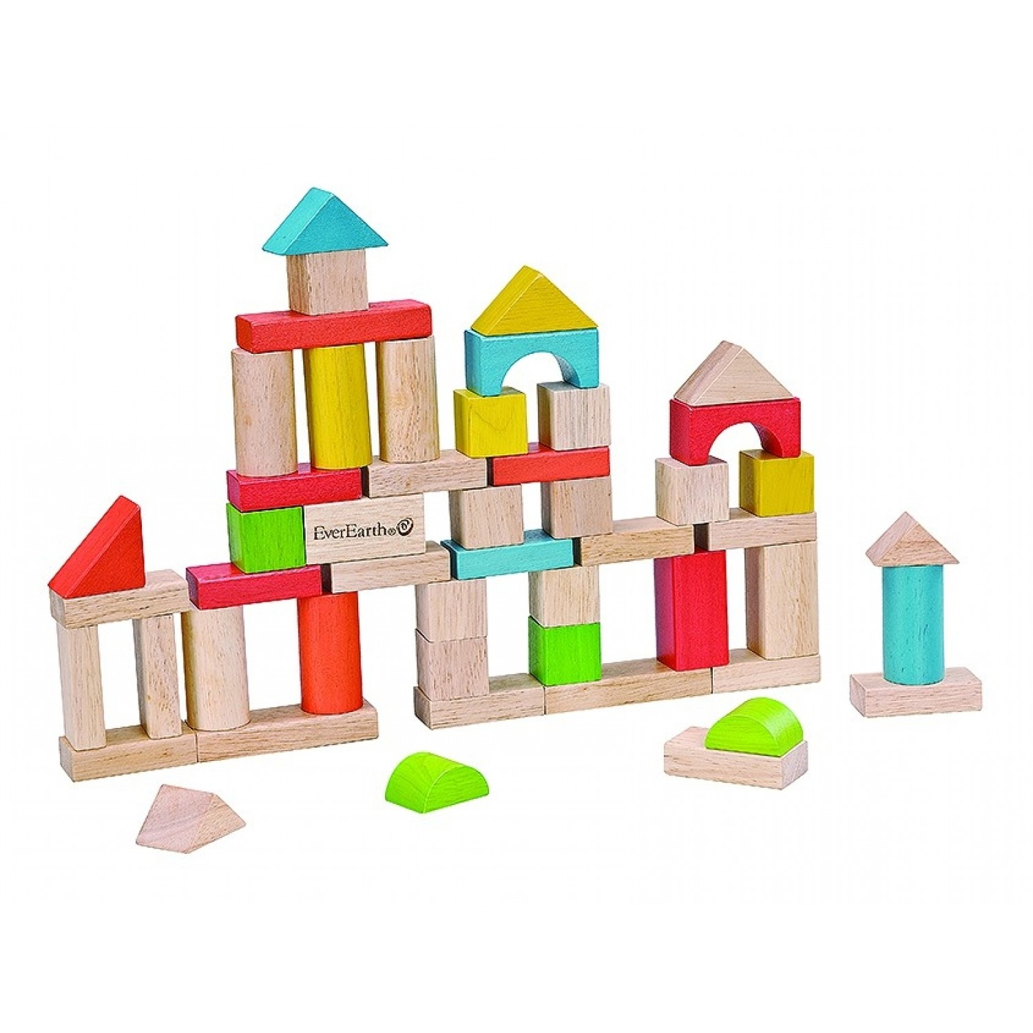 EverEarth 50-piece building blocks made of FSC wood