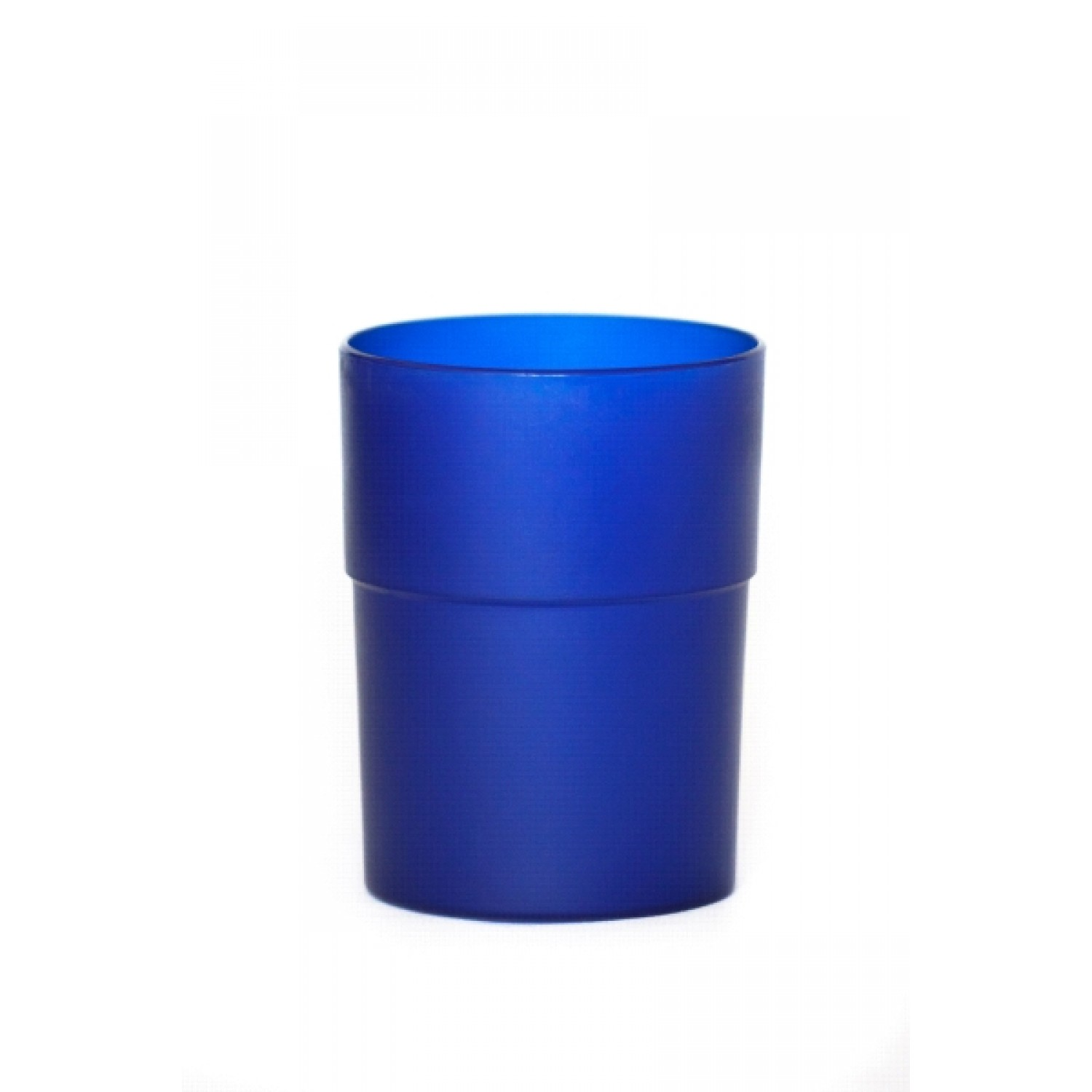 Cup made from bioplastics in blue – BPA-free