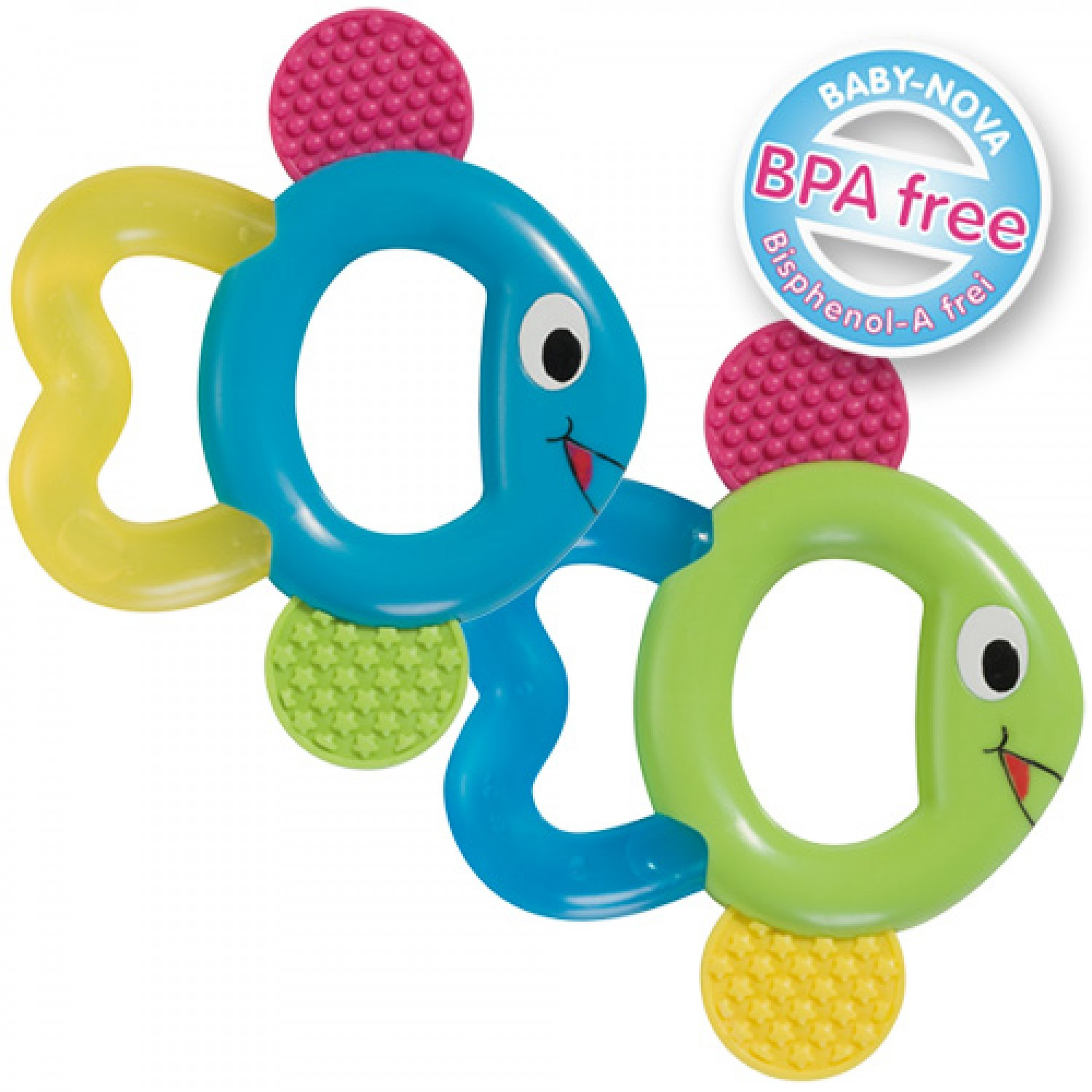 Cooling Teether Fish – Teething Aid 2 colours | Baby Nova