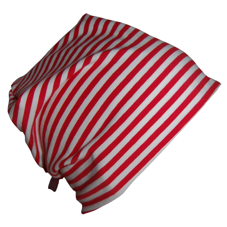 "Red-white ringed organic cotton Cap ""Line"" | bingabonga"