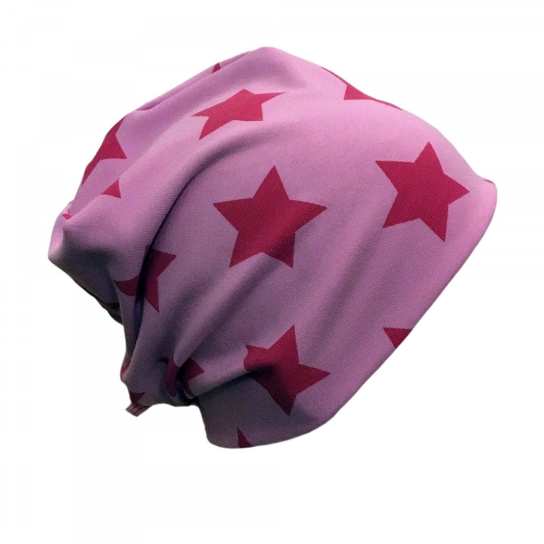 GOTS Organic cotton Cap Pink Stars | bingabonga