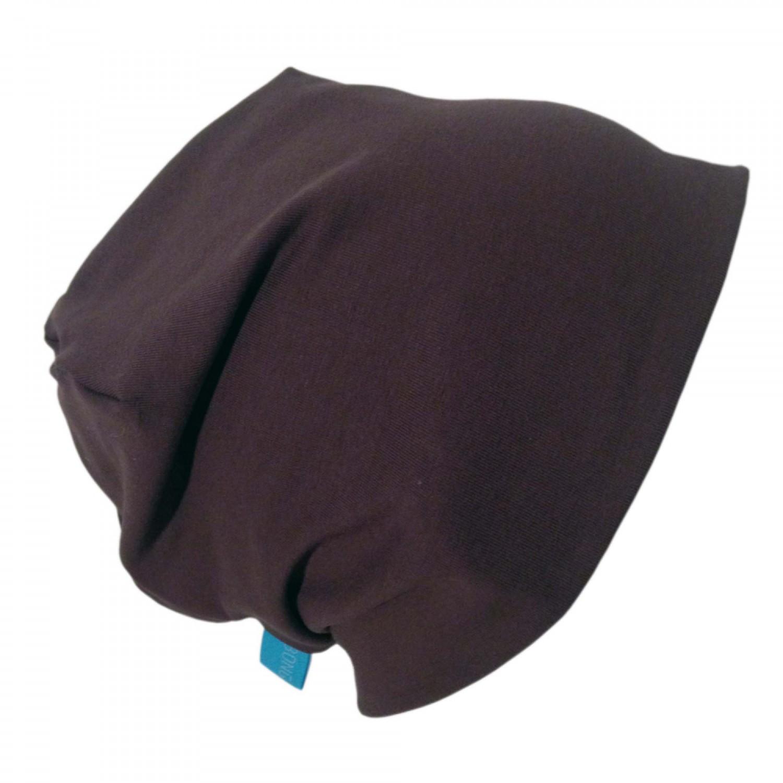 "Organic Cotton Cap ""Line"" in Chocolate Brown | bingabonga"