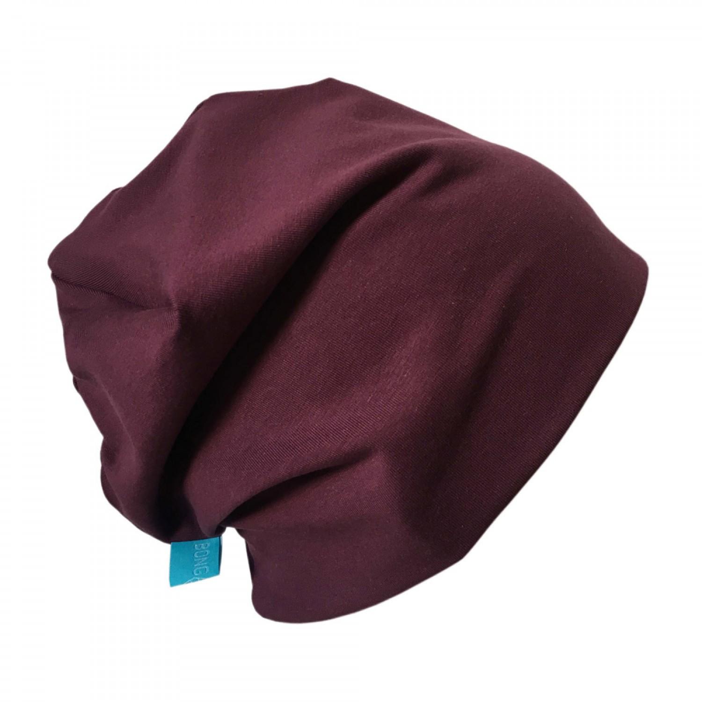 "Organic Cotton Cap ""Line"" plain Aubergine | bingabonga"