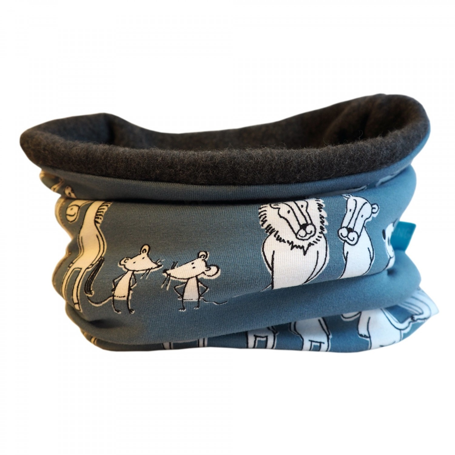 Bingabonga winter eco tube scarf for kids animal friends