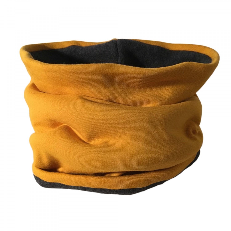 Winterproof Organic Loop Scarf Mustard/Anthracite | bingabonga